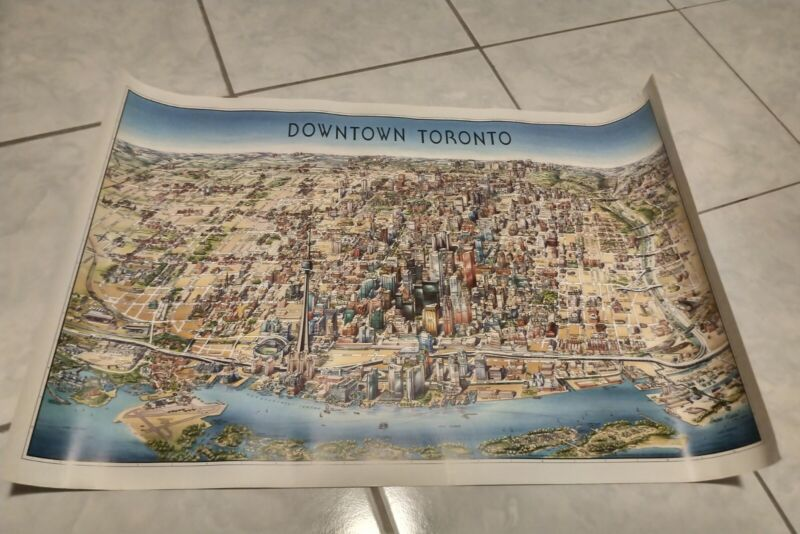 Map of Downtown Toronto, Canada, by Unique Media, Not folded 1999