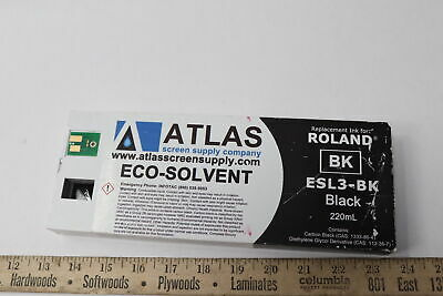 Atlas Replacement Eco-solvent Ink For Roland Black 220ml Esl3-bk