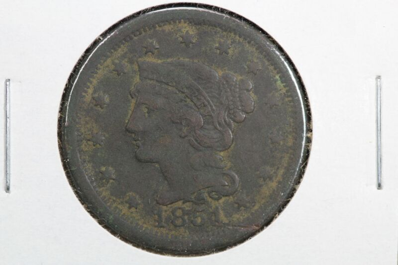 1851 Braided Hair Large Cent 0G0F