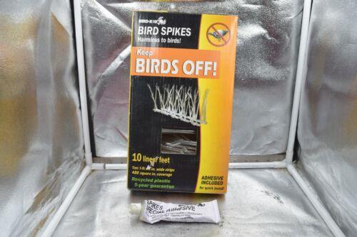 """Bird-X SP-10-NR 6 1Ft Long 4-1/2 """" High Bird Repellent Spikes 6 feet"""