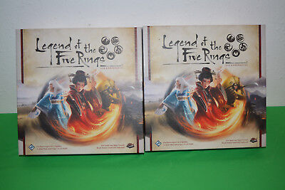 3x Legend of the five Rings Grundspiel + 2 Dynastie-Packs und Alt-Art-Karten