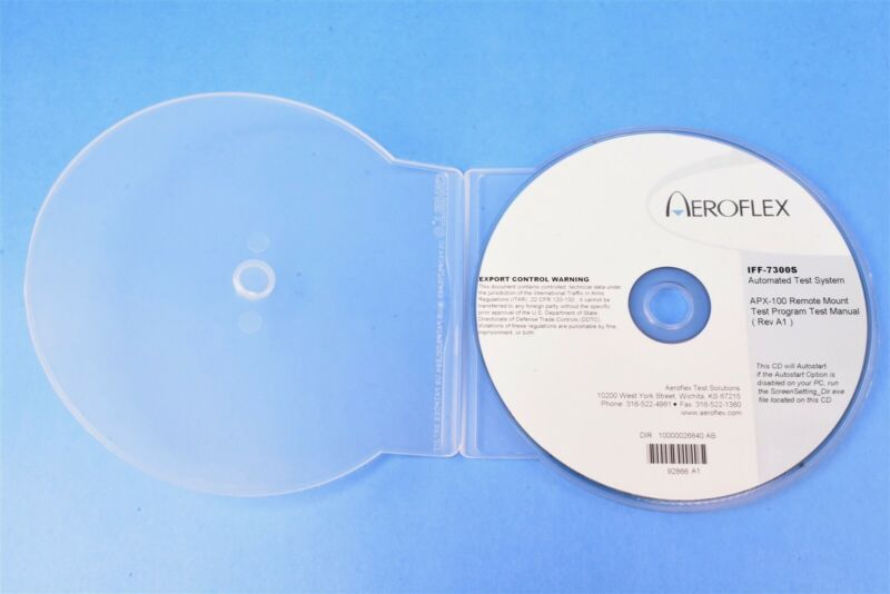Aeroflex IFF-7300S ATS APX-100 Remote Mount Test Program Test Manual Rev. A1