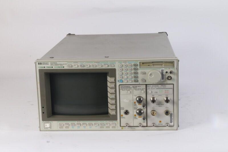 HP 83480A Digital Communications Analyzer W/ Option 100 and 83485A + 83493A Mod.