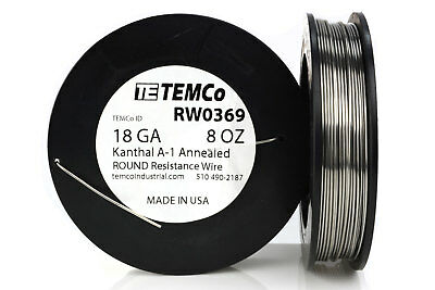 Temco Kanthal A1 Wire 18 Gauge 8 Oz 126 Ft Resistance Awg A-1 Ga