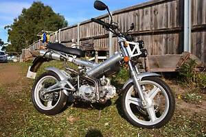 Low Klms, Sachs Madass 125cc. Has Lo/Hi beam LEDs fitted. 175 klm Dodges Ferry Sorell Area Preview