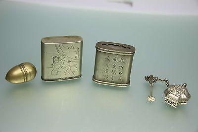 Sammlung Antike Opium Dosen Erotika Antique Opium Box Collection RAR