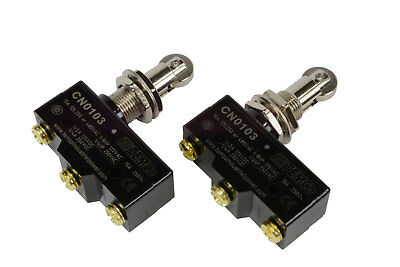 2 LOT TEMCo HEAVY DUTY 15A Micro Limit Switch Roller Plunger SPDT Snap Action