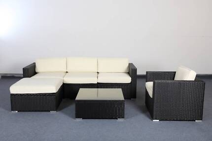 New Assembled Outdoor Sofa Lounge PE Wicker Rattan Aluminum Frame