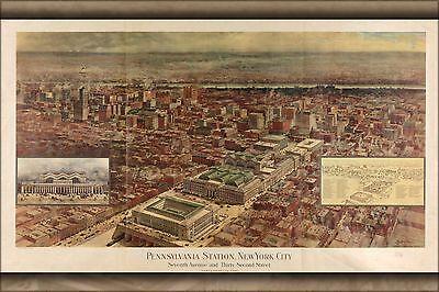 Penn Station New York New York (Poster, Many Sizes; Map Of Penn Station, New York City 1910)