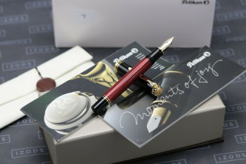 Pelikan Souveran M800 Red Striated Fountain Pen