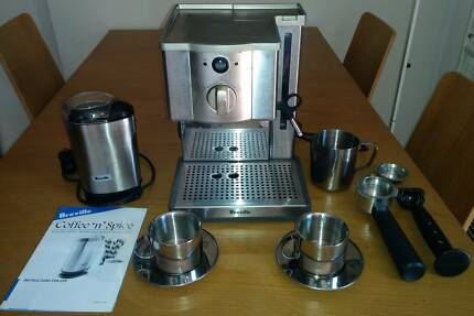 Coffee machine + grinder Lutwyche Brisbane North East Preview