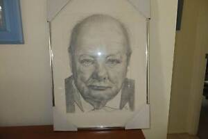 Winston Churchil (pencil sketch) Bonnells Bay Lake Macquarie Area Preview