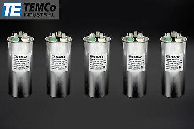 Temco 555 Mfd Uf Dual Run Capacitor 370 440 Vac Volts 5 Lot Ac Motor Hvac 555