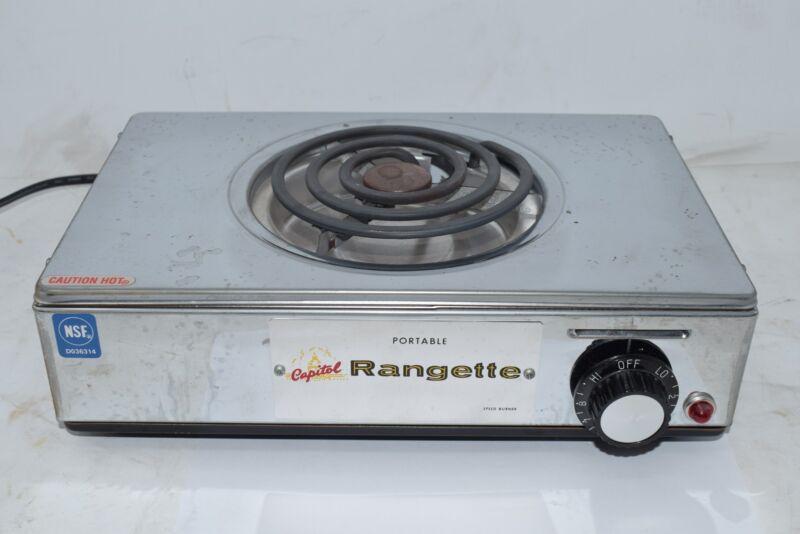 Capitol Rangette 1 Burner Portable Electric Hotplate USA Model CUL 255T