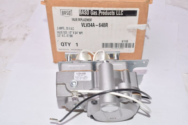 NEW BASO Gas Products VLV34A-648R Valve Replacement - .3 Amps, 25 V.A.C.