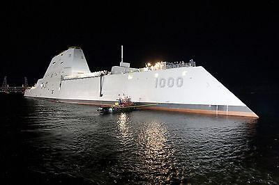 8x12 Photo The Zumwalt U.S. Navy Guided Missile Destroyer DDG 1000 Newest Design