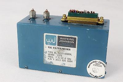 Filter Yig Watkins Johnson 7.5-12.0 Ghz Wj-5217-048da