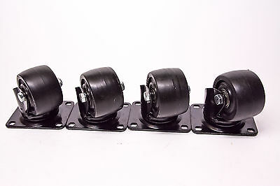 3 X 1-78 Heavy Duty Business Machine Caster Set Of 4  600lbsea Capacity