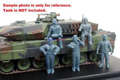Caesar 1/72 Modern German Soldier Tank Crews Figure (5pc Diff. Pose) Toy Soldier