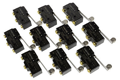 10 Lot Temco Heavy Duty 15a Micro Limit Switch Roller Lever Arm Spdt Snap Action