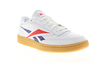 Reebok Club C 85 MU EF8841 Mens White Leather Lace Up Low Top Sneakers Shoes