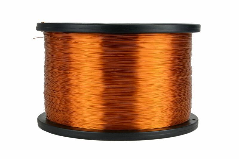 TEMCo Magnet Wire 27 AWG Gauge Enameled Copper 5lb 7850ft 200C Coil Winding