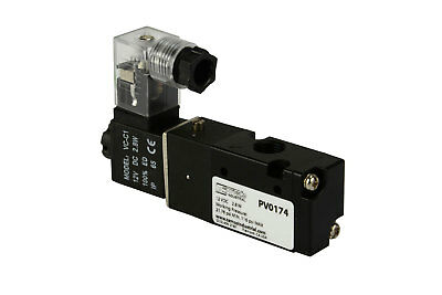 New 12v Dc Solenoid Air Pneumatic Control Valve 3 Port 3 Way 2 Position 18 Npt