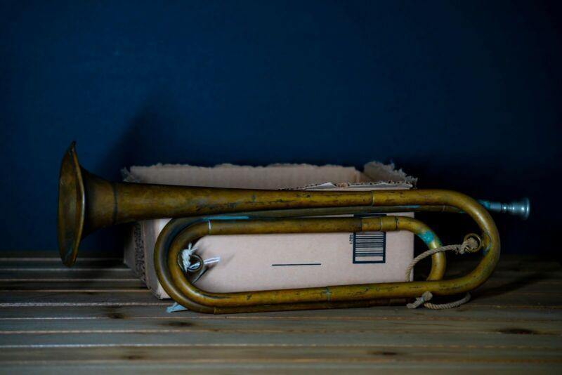 Vintage US Regulation Brass Bugle