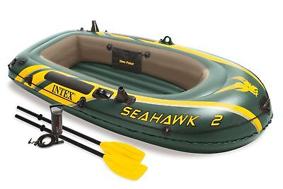 Intex Seahawk 2 Inflatable Boat Set with Oars & Air Pump 68347EP