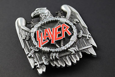 SLAYER BELT BUCKLE METAL EAGLE THRASH METAL HEAVY METAL SKULL