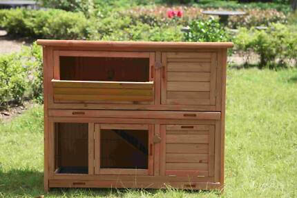 Large two story Rabbit & guinea pig hutch with Ramp(WP-R060)