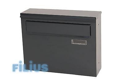 Zaunbriefkasten FDK1  Durchwurfbriefkasten RAL 7016 (anthrazitgrau) GLANZ