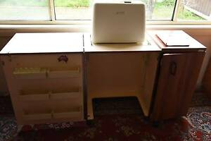 Sewing cabinet and machine Hamlyn Heights Geelong City Preview