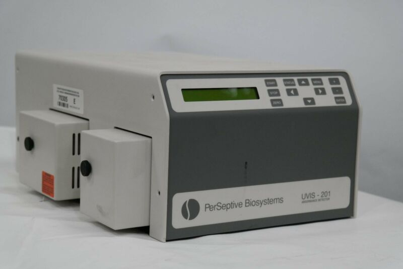 PERSEPTIVE BIOSYSTEMS UVIS 201 UVIS-201 0201-9085 201-9085 ABSORBANCE DETECTOR
