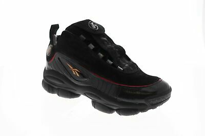 Reebok Iverson Legacy CN8404 Mens Black Mid Top Athletic Gym Basketball Shoes