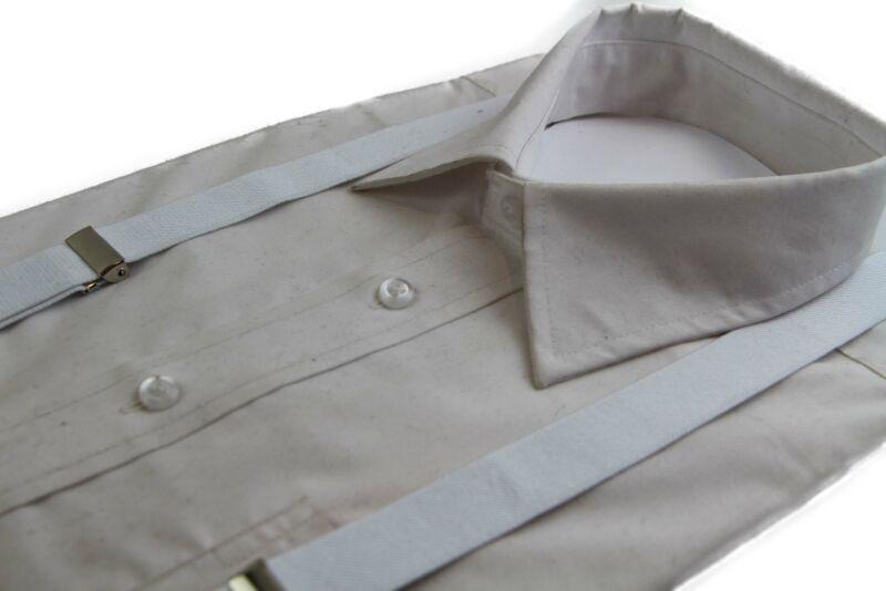 White Suspenders Women Mens Men