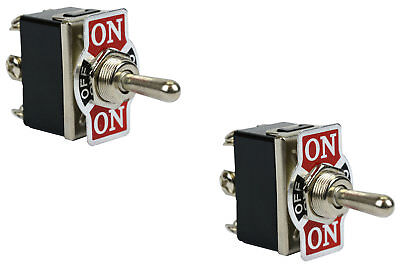 2 Pc Temco Heavy Duty 20a 125v On-off-on Dpdt 6 Terminal Toggle Switch