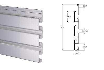 Interlocking Aluminum Slatwall Panel - Cut Length 5 Mill Finish