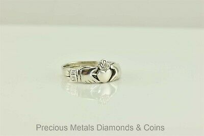 Sterling Silver Friendship Claddagh Irish 4 Band Puzzle Ring 925 Sz: 8.5 (Claddagh Puzzle Ring)
