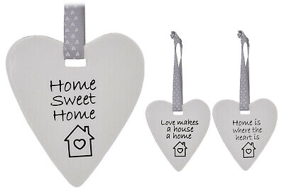 Small Ceramic Heart Home Sweet Home Love Makes House Home Home Where Heart Is