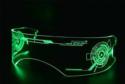 Fursuit Furry Costume LED Visor Glasses Cyberpunk Tron CyberGoth Goggles (Cyberpunk Glasses)
