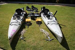 2 Hobie Mirage Adventure Fishing Kayaks Mullaloo Joondalup Area Preview
