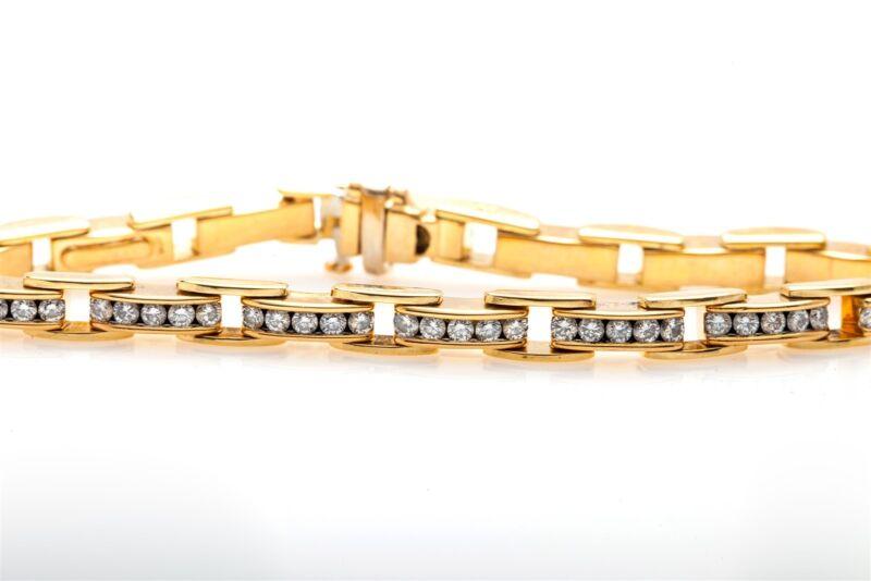 Designer Signed $12,000 4ct VS G Diamond 18k Yellow Gold Tennis Bracelet 30g BIG