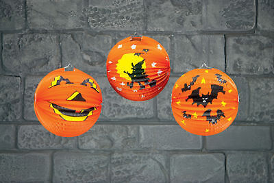 *CHEAP* Halloween Paper Pumpkin Lantern Hanging Party Decoration 25cm *BARGAIN* - Buy Paper Lanterns