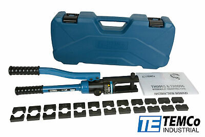 Temco Th0005 6 Ga- 600 Mcm Hydraulic Lug Crimper Tool Cable Wire