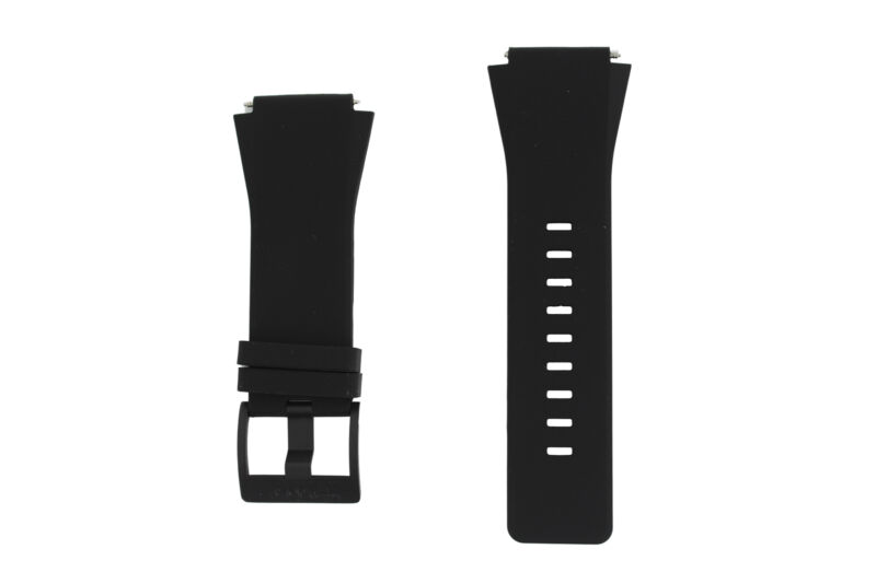 Genuine+Sony+SW2+Black+Rubber+Replacement+Strap+%28With+Pins%29+-+1275-4442