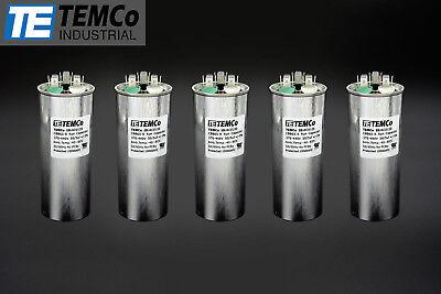 Temco 505 Mfd Uf Dual Run Capacitor 370 440 Vac Volts 5 Lot Ac Motor Hvac 505