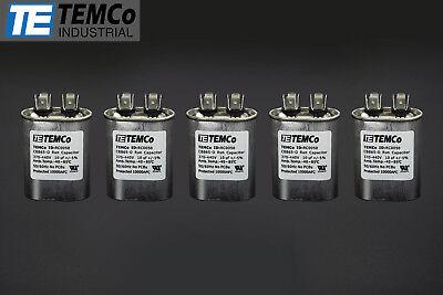 Temco 10 Mfd Uf Run Capacitor 370440 Vac Volts 5 Lot Ac Motor Hvac 10 Uf