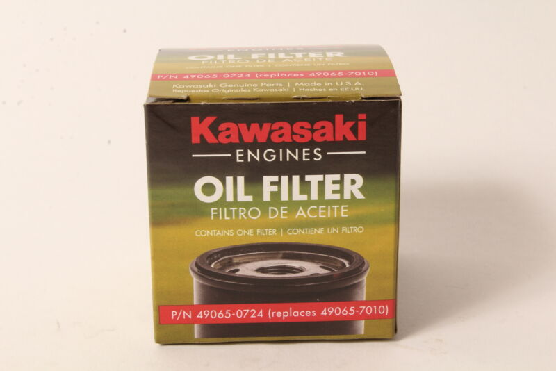 Genuine Kawasaki 49065-0724 Oil Filter Fits 49065-7010 OEM