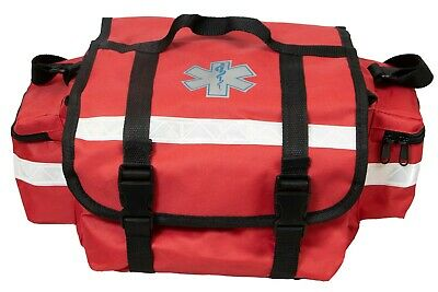 First Responder Paramedic Rescue Emt Trauma Bag Red 17x 9x 7
